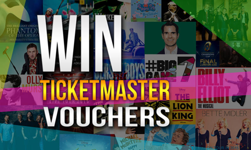 Win Ticketmaster Vouchers