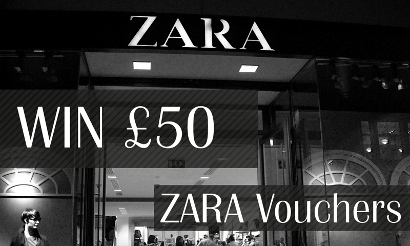 Win £50 Zara Vouchers
