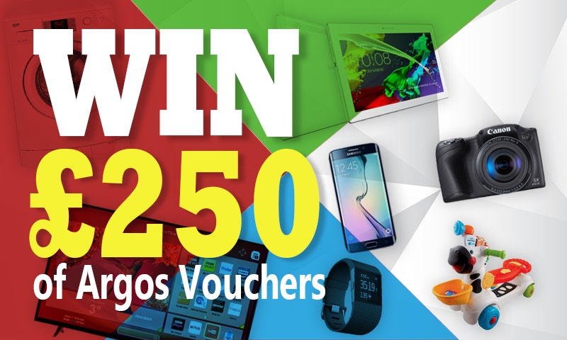 Win £250 Argos Vouchers