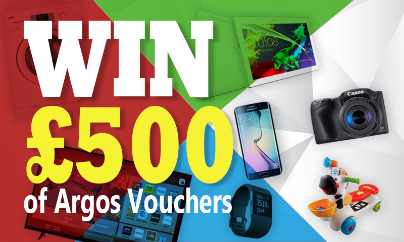 Win £500 Argos Vouchers
