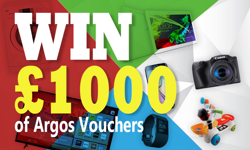 Win £1000 Argos Vouchers