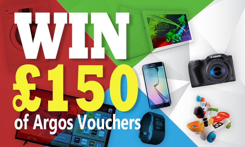 Win £150 Argos Vouchers